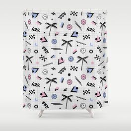 Smiley faces all day Shower Curtain