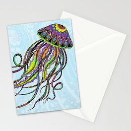Electric Jellyfish Stationery Cards