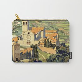 Vintage Litho Travel ad Assisi Italy Carry-All Pouch