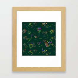 Magic symbols Framed Art Print