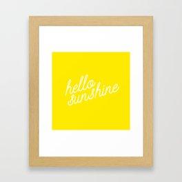 Hello Sunshine Script Framed Art Print