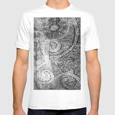 PEBBLE PATH SMALL Mens Fitted Tee White