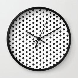 Handdrawn Polka Dot Wall Clock