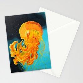 Orange Jellyfish Stationery Cards