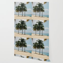 Beach Side Happy Place Wallpaper