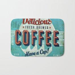 Vintage Style Coffee Sign Bath Mat