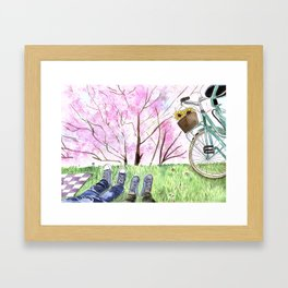 Better than going to the movies Framed Art Print