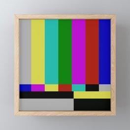 STATIC TV Framed Mini Art Print
