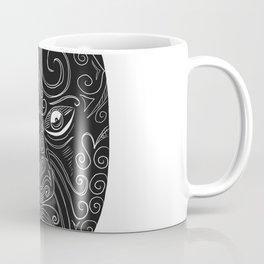 Maori Mask Scratchboard Coffee Mug