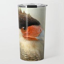 Portrait of a Caracara Travel Mug