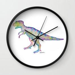 T-Rex Watercolor Print Wall Clock