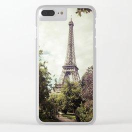 Vintage Paris Clear iPhone Case