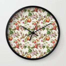 botanical fruits Wall Clock
