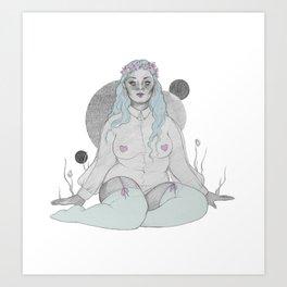 soft grey Art Print