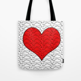 Heart of Laces Tote Bag