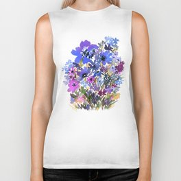 Heavenly Blues and Purples Biker Tank