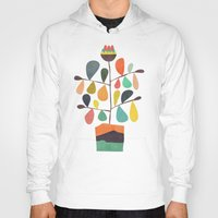 plant Hoodies featuring Potted Plant 4 by Picomodi