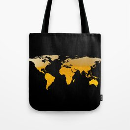 World Map Silhouette - Beer Tote Bag