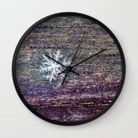 snowflake Wall Clocks featuring snowflake by Bonnie Jakobsen-Martin