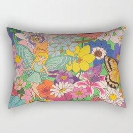 Fairy, butterfly & flowers Rectangular Pillow