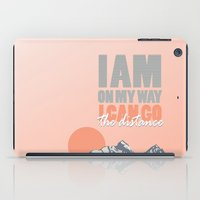 hercules iPad Cases featuring i can go the distance.. hercules by studiomarshallarts