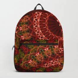 Detailed brown and red mandala Backpack