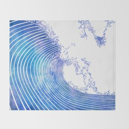 Pacific Waves III Throw Blanket