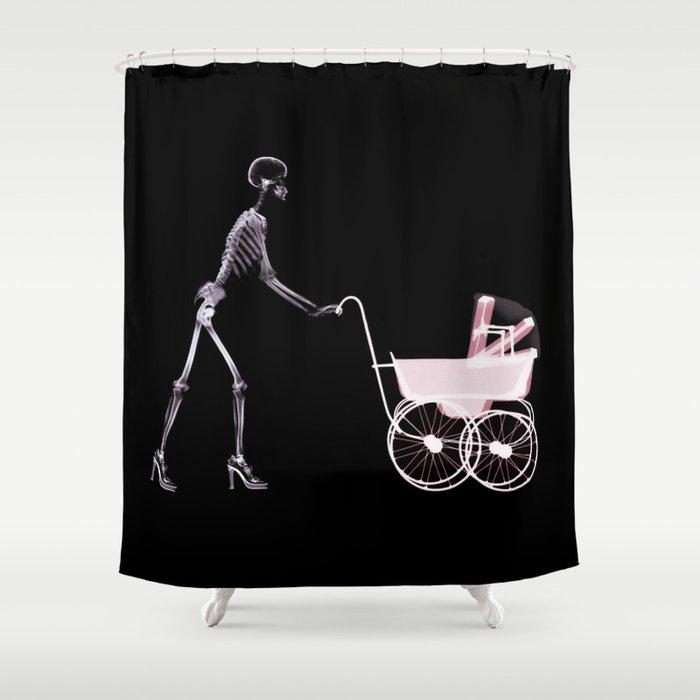 Mother 's Skull  Shower Curtain
