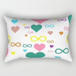 Infinity heart pattern Rectangular Pillow