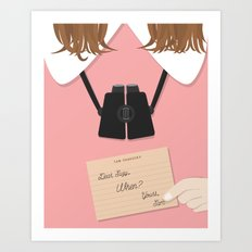 Moonrise Kingdom Wes Anderson Inspired Print - Suzy Art Print