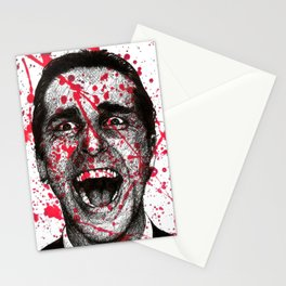 Patrick Bateman American Psycho Stationery Cards