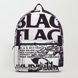 Black Flag Show Flyer Backpack