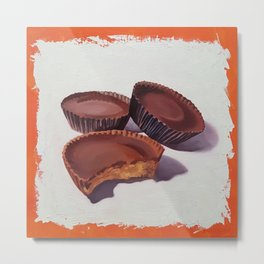 Peanut Butter Cups painting Metal Print