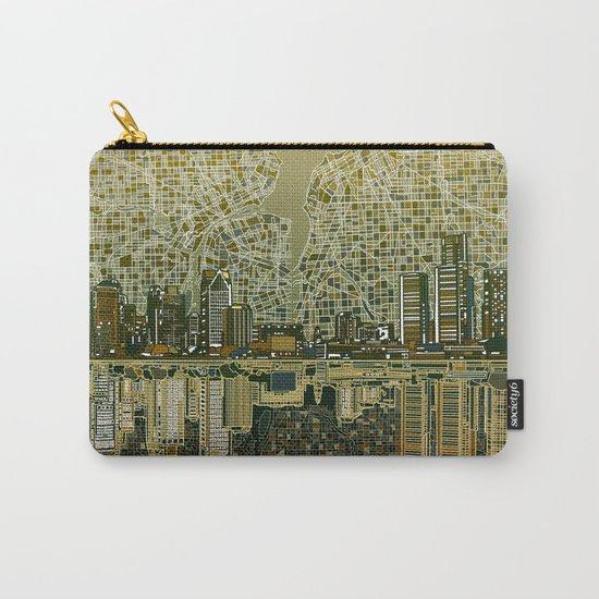 detroit city skyline Carry-All Pouch