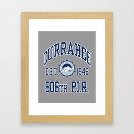 Currahee Athletic Shirt Framed Art Print