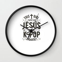 Girl  Korean K-Pop  Runs On Jesus  T- Wall Clock