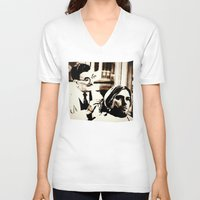 kurt rahn V-neck T-shirts featuring Kurt & Floyd  |  Grunge Collage by Silvio Ledbetter
