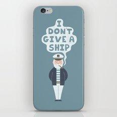 Indifferent Captain iPhone Skin