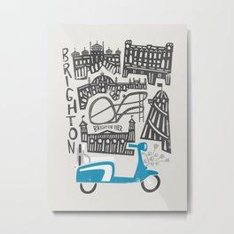Brighton Cityscape Metal Print