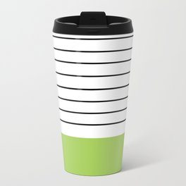 Lime Stripes Travel Mug