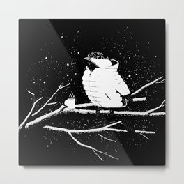 Negative coffee Bird Metal Print