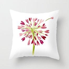 Heart Flower Throw Pillow