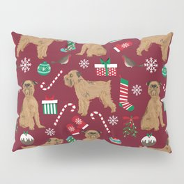 Brussels Griffon christmas holiday pet pattern stockings presents dog breed gifts Pillow Sham
