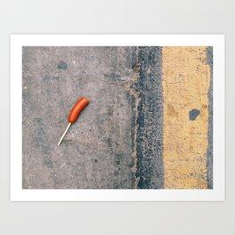 street food Art Print