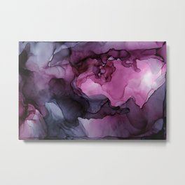 Abstract Ink Painting Ethereal Flowing Watercolor Nebula Metal Print
