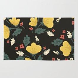 Marguerite Floral Print Rug