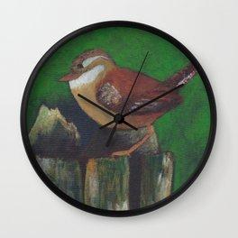 bird on a log Wall Clock