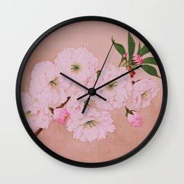 Ichi-yo - Single Leaf - Cherry Blossoms Wall Clock