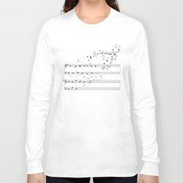 Natural Musical Notes Long Sleeve T-shirt