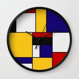 Mondrian De Stijl Art Movement Wall Clock